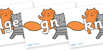 Silent Letters on Cats to Support Teaching on What the Ladybird Heard - Silent Letters, silent letter, letter blend, consonant, consonants, digraph, trigraph, A-Z letters, literacy, alphabet, letters, alternative sounds