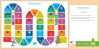 Emotions Board Game - ourselves, emotions, board game, activity