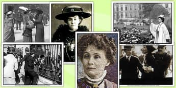 Suffragettes Photo and Pictures Pack - womens rights, role play