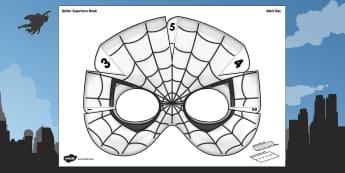 3D Spider Superhero Mask Printable - 3d, spider, superhero, mask, craft