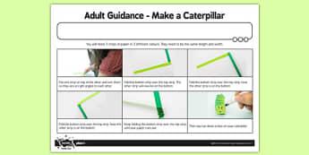 Adult Guidance Make a Caterpillar - adult guidance, make, caterpillar
