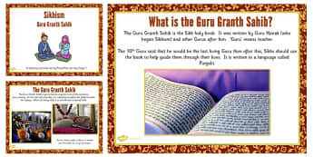 Guru Granth Sahib Teaching and Task Setting PowerPoint - Gurus