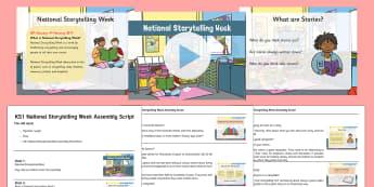KS1 National Storytelling Week Assembly Pack - National Storytelling Week Assembly Pack, KS1, stories, telling stories, favourite stories, listenin