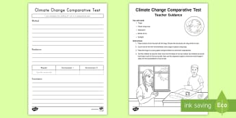 Climate Change Comparative Activity Pack - Climate Change, Climate, Global Warming, atmosphere, greenhouse gases
