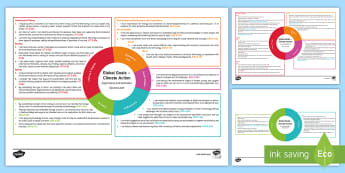 Global Goals: Climate Action Second Level CfE IDL Topic Web - Planner, Plan, Planning, Overview, Cross-Curricular, Global Issues, Citizenship, 2nd Level, global w