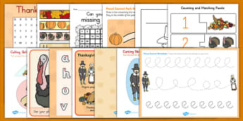Thanksgiving Teaching Pack - ESL Kindergarten Thanksgiving