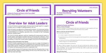 Circle of Friends Pack - circle of friends, pack, resources, volunteer, children, adults