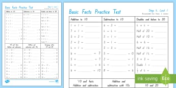 Number Knowledge Stage 4 Practice Test - stage 4 maths, basic facts, number knowledge tests, basic facts tests, nZ maths