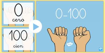 Presentación: Los números - 0-100 - 0-100, contar, números, presentación, powerpoint, power point, cifras, cero, cien, Spanish