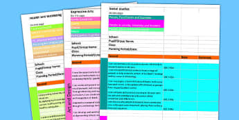 Scottish Curriculum for Excellence Second Overview Planning Spreadsheet