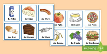 Different Foods Snap Card Game German - German Games, German snap, German card games, German food, German matching cards.,Scottish-translati