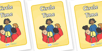 Circle Time Display Poster - Circle time, SEN, behaviour management, PSHE, SEAL, carpet time, circle, display banner, display, good sitting
