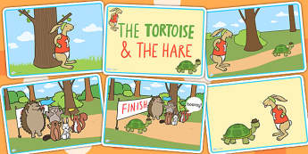 The Tortoise and The Hare Story Sequencing Cards - stories, books
