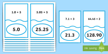 Multiplying Decimal Numbers Matching Cards - ACMNA129, Multiply Decimal Numbers, Decimal Numbers, Decimal Number Multiplication, Multiply Decimal