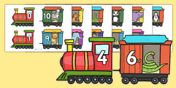 Number Bonds to 10 on Trains and Carriages - number bonds, number bonds to ten, bonds, trains and carriages, transport, numeracy, adding, subtracting, animals, zoo, animals number bonds, trains and carriages number bonds