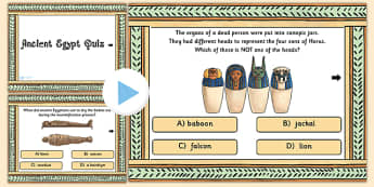 Ancient Egyptian Quiz PowerPoint - ancient egypt, history, games