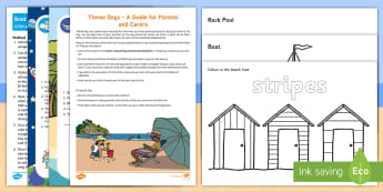 Have a Beach Day at Home Activity Pack - seaside, days in, family, holidays, craft