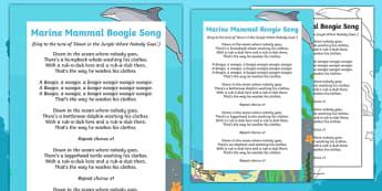Marine Mammal Boogie Song