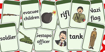 World War Two Matching Flashcards - matching, flashcards, ww2