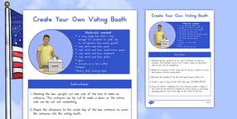 Make Your Own Voting Booth Activity