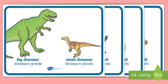 Big and Small Comparison Display Posters English/Italian - Big And Little Comparison Display Posters - big and little, comparison, display, poster, sign, big,