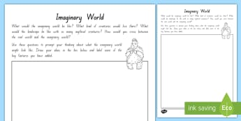 The Imaginary World Activity To Support Teaching On The Sasquatch Escape by Suzanne Selfors, Chapter Chat Week 4 - chapter chat, mythical creatures, year 3 and 4 chapter chat, week 4 activities, the sasquatch escape