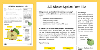 All About Apples Fact File