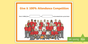 Attendance Competition Display Poster - attendance, young people, PSHCE, competition, rewards