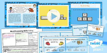 Computing: Microsoft Word Processing Skills: Editing Year 1 Lesson Pack 3