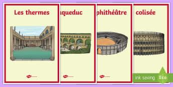 Affiches : Les romains  - FR Histoire KS2 (KS2 History),French