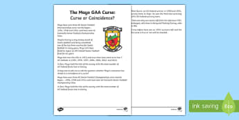 The Mayo GAA Curse: Curse or Coincidence? Fact File-Irish