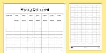 ROI Teacher Money Collected Checklist-Irish