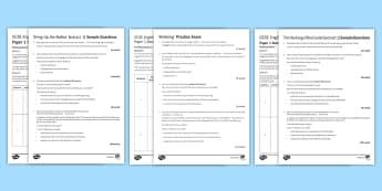 AQA P1 Reading Booklet Mini Exam Pack - AQA P1 Reading Booklet, paper one.