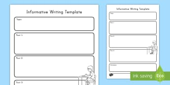 Informative Writing Template - Common Core, Graphic Organizer,