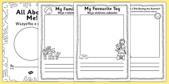 All About Me EYFS Transition Booklet Polish Translation - polish
