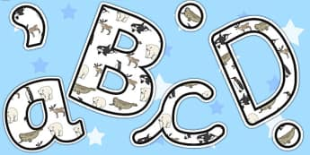 Polar Animals A4 Display Letters - Polar, Animals, Pole, Display