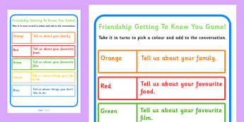 Friendship Getting To Know You Game - games, SEN games, friends