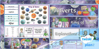Space: The King of Space Y3 Overview Y3 Display Pack To Support Teaching on 'The King of Space' - Earth and space, astronauts, rex, adventure story, the pirates