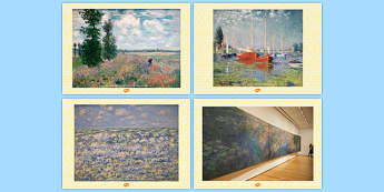 Claude Monet Photo Pack - claude, monet, photo, pack, display