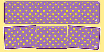 Lilac with Yellow Stars Editable Display Banner - lilac, yellow, display, banner, display banner, display header, themed banner, editable banner, editable