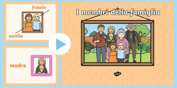 I membri della Famiglia Presentazione - la, mia, famiglia, powerpoint, power, point, mamma,papa