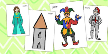 Castles and Knights Photo Cut Outs - castle, knight, cut out, cut