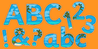 The Pacific Islands Display Letters and Numbers Pack