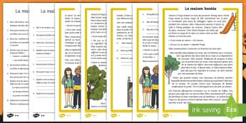 Compréhension écrite différenciée : La maison hantée - sorcellerie, magie, lecture, cycle 2, Halloween,French
