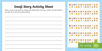 KS2 Emoji Story Writing Activity Sheet - UKS2, LKS2, ks2 writing, ks2 story writing, emoji, emojis, emoji activity, emoji writing activity, k, moji