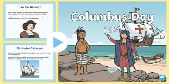 Columbus Day (K-2) PowerPoint - christopher columbus, columbus day, october, fall, holidays