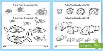 Trefnu Maint O Dan y Môr - Under the Sea, O dan y Mor, pysgod, fish, creaduriaid y mor, sea creatures, beach, glan y mor, mwyaf