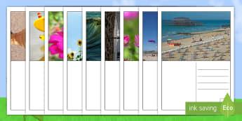 نشاط كتابة بطاقات بريدية صيفية - الصيف، بطاقات بريدية، كتابة، الكتابة، عربي، أنشطة، صو