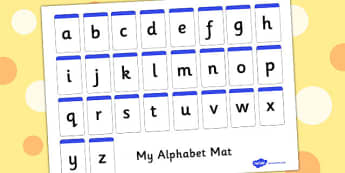 Alphabet Mat Letters Only - letters, letter, visual aid