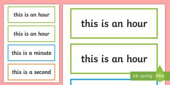 Time Units of Measurement Display Labels - measures, maths, units of measurement, labels, display, time,Irish